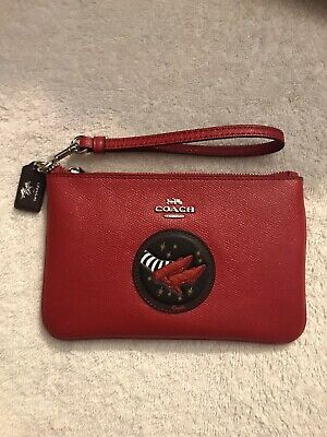 COACH Wizard Of Oz Red Apple Leather Wristlet