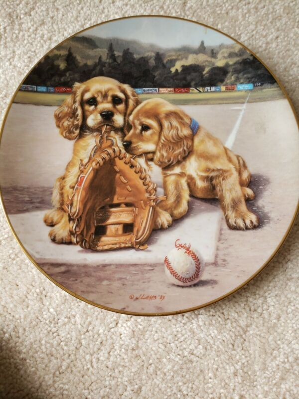 Double Play By Jim Lamb Collectors Plate # 2346C