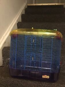Large hamster cage with 4 tubes