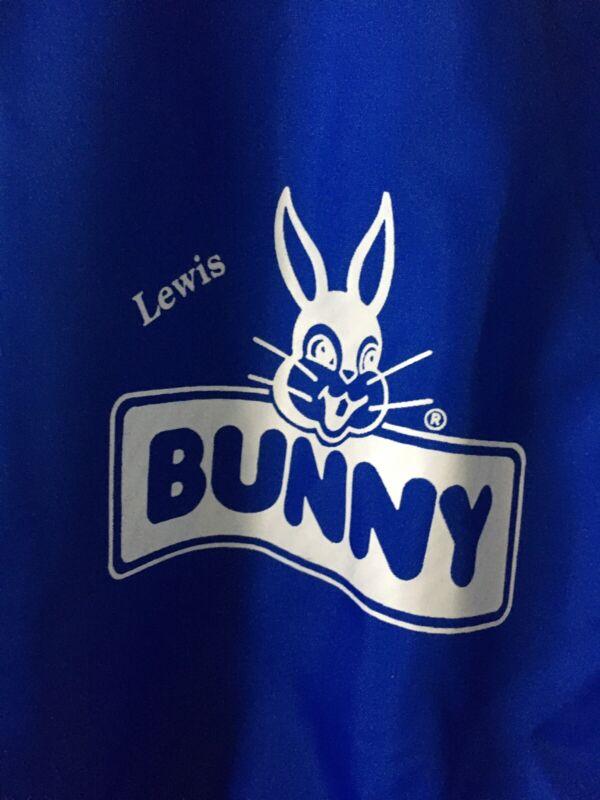 Vintage Medium Advertising Lewis Bunny Bread Delivery Man Uniform Jacket Shirt
