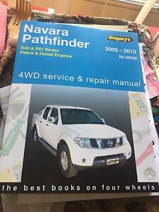 Nissan Pathfinder Navara******2013 gregorys workshop manual NEW ! Golden Grove Tea Tree Gully Area Preview
