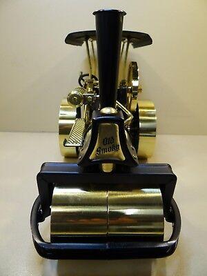 Dampfmaschine Dampfwalze Wilesco D366 Messing-Schwarz mit Zubehör & OVP