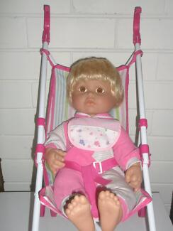 Near New, Little Girl's Doll & Stroller
