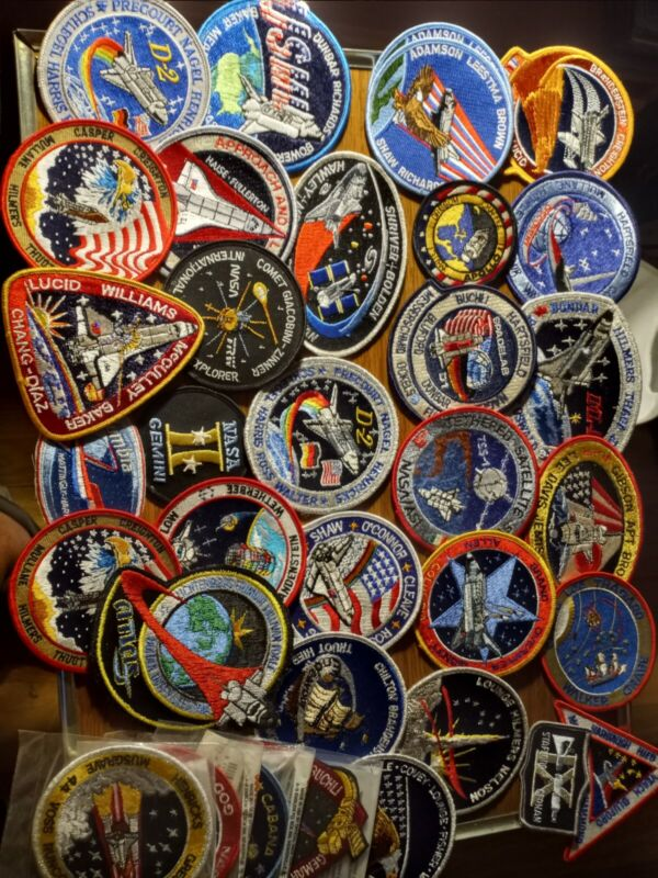 34 NASA Space Emblem Patch Lot Authentic Kennedy Space Center Mercury Discovery