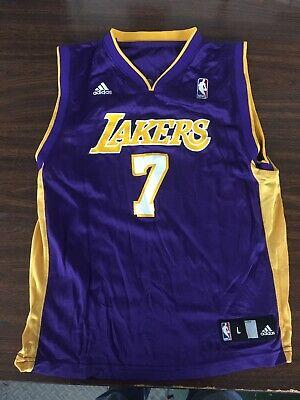 Lamar Odom Los Angeles Lakers Reebok NBA Jersey Boys Large (14-16) #7
