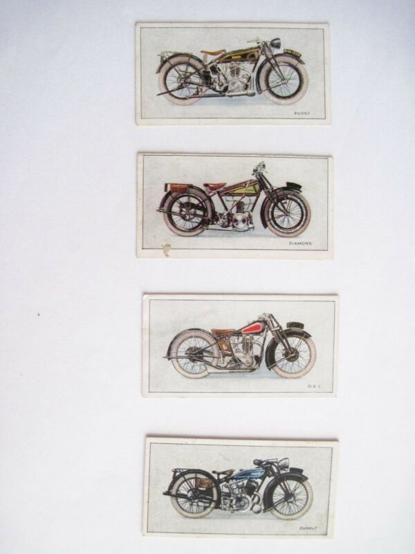 """Very Rare Set of """"W.D. & H.O. Wills Cigarettes """"Motorcycle Advertising Cards"""" *"""