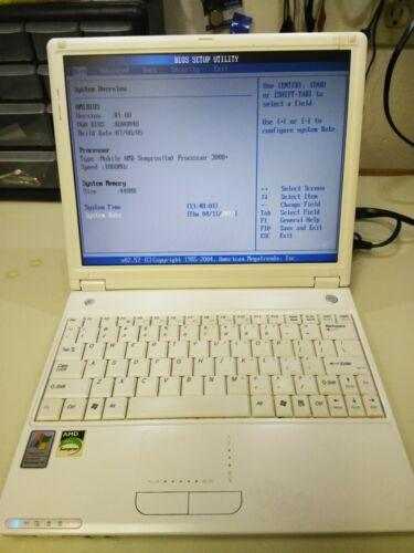 Averatec 3700 Laptop, AMD Sempron 3000+, 512 MB Ram, Windows XP
