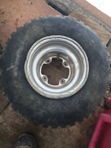 Rear rims and tires