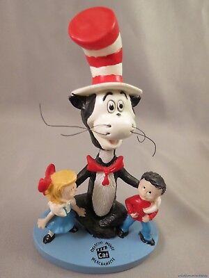 DR SEUSS CAT IN THE HAT BOBBLEHEAD DOLL Movie Figurine Resin Tophat suess studio](Dr Seuss Top Hat)