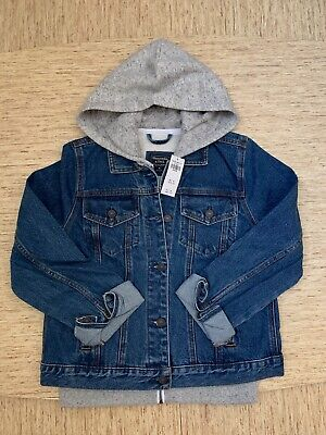 Women's Abercrombie A&F Hooded Denim Jacket Size Medium Dark Wash - New With Tag