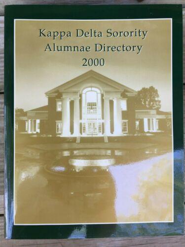 KAPPA DELTA SORORITY ALUMNAE DIRECTORY 2000