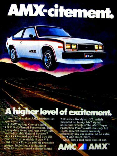 "1979 AMX CITEMENT A Higher Level Of Excitement AMC Original Print Ad 8.5 x 11"""