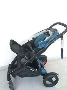 Steelcraft pram for infants through to toddlers and car capsule