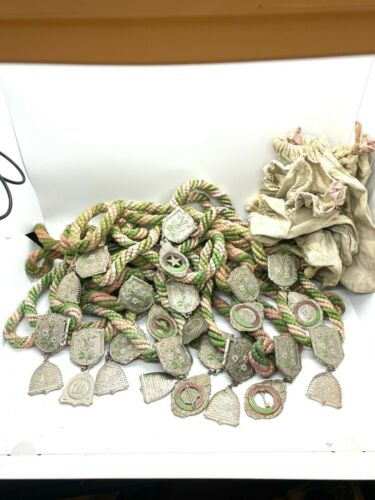 Huge Lot of Vintage IOOF Odd Fellows Parade Medallions Trust, Prove, More Bags