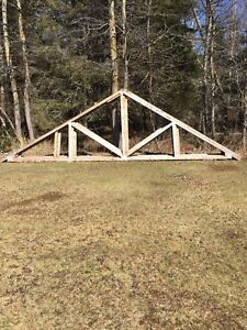 24' roof trusses