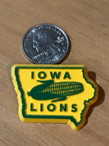Lions Club PIN IOWA 1959 Plastic VINTAGE RARE MD 9 DISTRICT CORN GREEN YELLOW