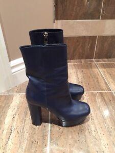 Gucci platform ankle boot - blue