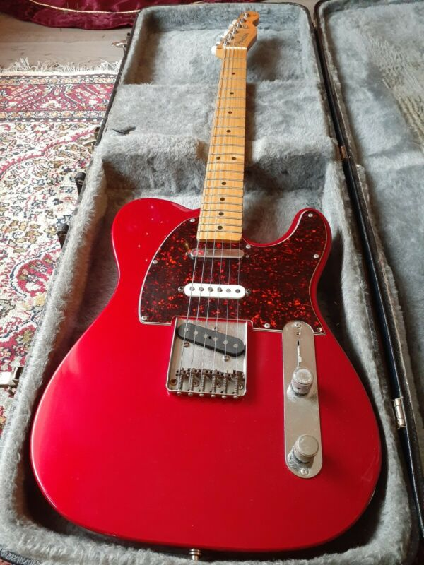 Fender Deluxe Nashville Telecaster MIM Electric Guitar 1998 Tele Red w/ case