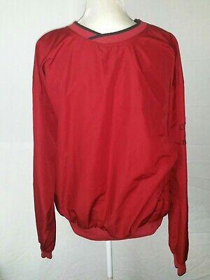 Cutter & Buck Men's V-Neck Pullover Size XL Red Windbreaker Golf ClimaGuard (Cutter & Buck V-neck Pullover)