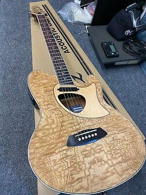 Ibanez Talman Series TCM50NT Acoustic-Electric Guitar Natural DAMAGED