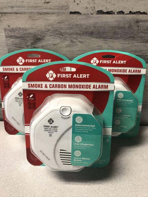 3 PACK First Alert Wireless Interconnected Smoke Carbon Monoxide Alarm VOICE
