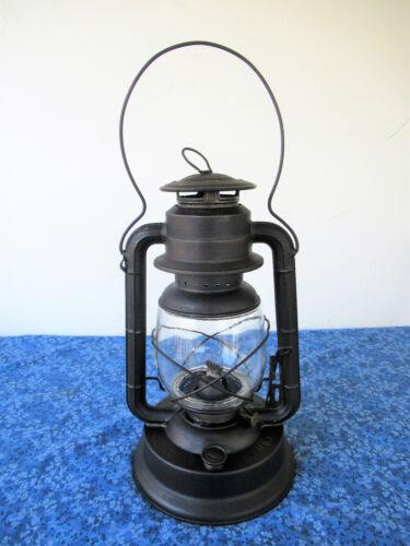 Antique Lantern DIETZ D-LITE No 2 LG FOUNT Primitive Oil Kerosene Lamp, Clean