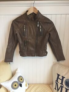 Girls size 7-8 faux leather jacket