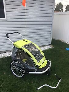 Baby & kids jogging stroller and bicycle trailer