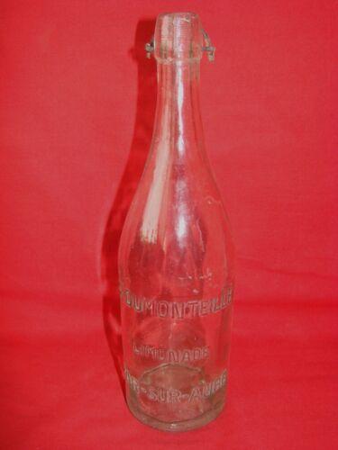 Antique Bottle Glass Lemonade G.DUMONTEILLE BAR On Paddle / Pub