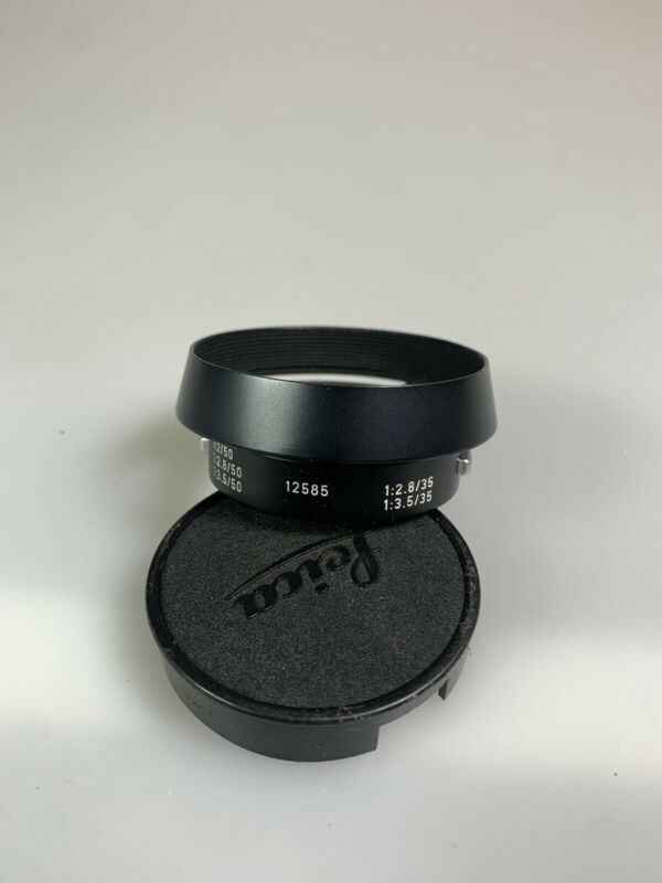Leica 12585H Hood for 35/2,35/2.8,35/3.5,50/2,50/2.8,50/3.5 With 42mm Cap