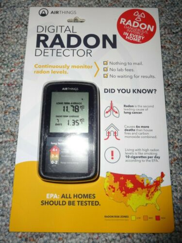 AIR THINGS Digital RADON Detector *NEW*  Sealed