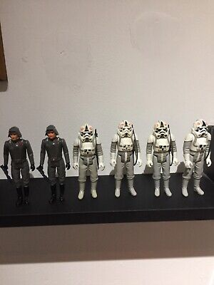 vintage Star wars Figures At At  Drivers Army Builder x6