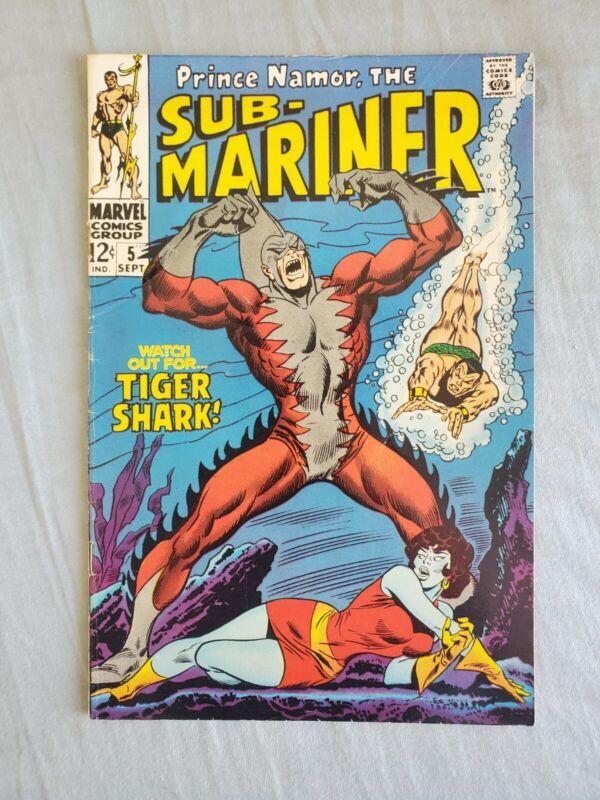 Sub Mariner 5 1st Tiger Shape Nicer Mid Grade Key