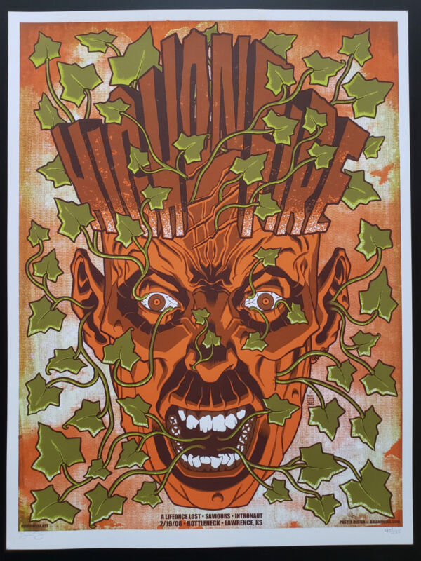 High On Fire Concert Poster 2008 Brian Ewing