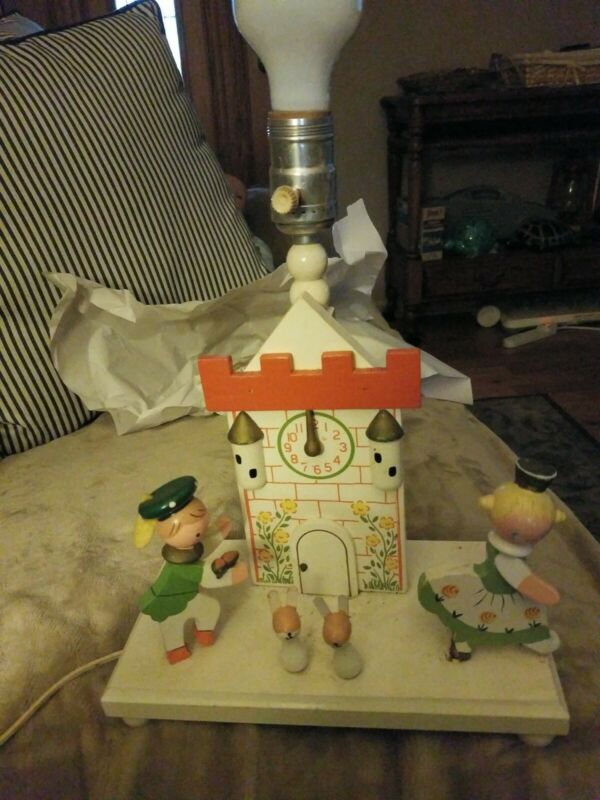 Rare Vintage IRMI Cinderella Nursery Lamp