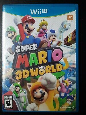 Super Mario 3D World, Nintendo Wii U, 2013, Complete In Case- Tested & Works