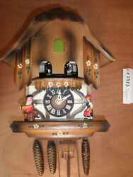 Cuckoo Clock Black Forest Scnmeckenbecher SEE VIDEO Musical Chalet 1 Day CK2383