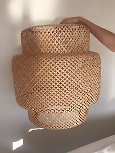 IKEA Sinnerlig bamboo light shade Darling Point Eastern Suburbs Preview