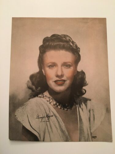 S10) Vintage Ginger Rogers R.K.O. Pictures Actress 8x10 Publicity Photograph