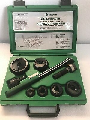 Greenlee 7238sb Manual Knock Out Punch Set 12 To 2 Conduit Slug Buster