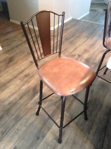 3 matching swiveling stools  Great condition   $60