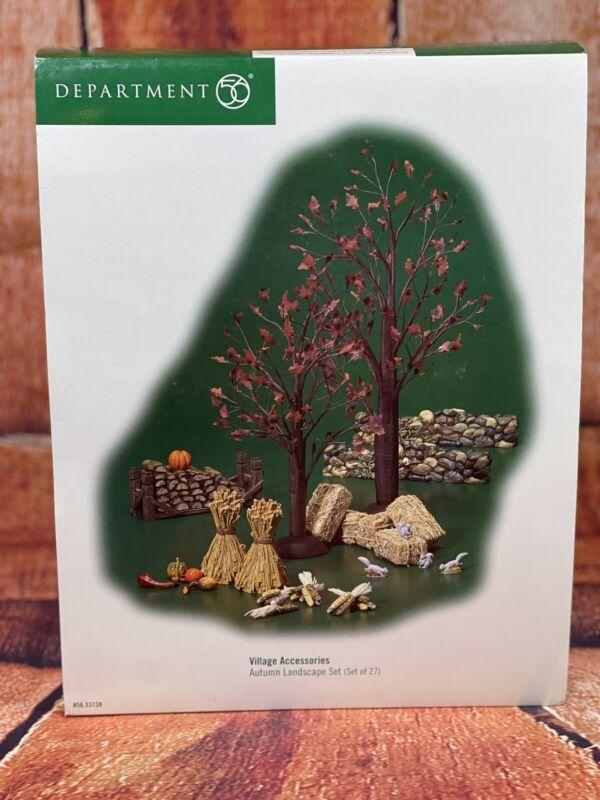 Dept 56 Autumn Accessories Village Landscape Set Thanksgiving Decor