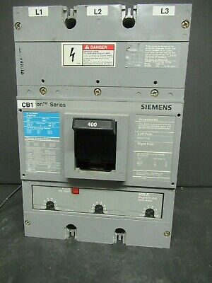 Sentron Series JXD63B400 Siemens Molded Case 400 Amp Circuit Breaker