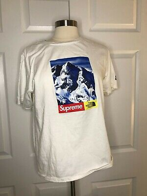 Authentic Supreme The North Face Mountain Tee Size L White -b