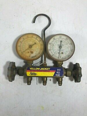 Hvac Gauges Yellow Jacket Test And Charging Manifold By Ritchie
