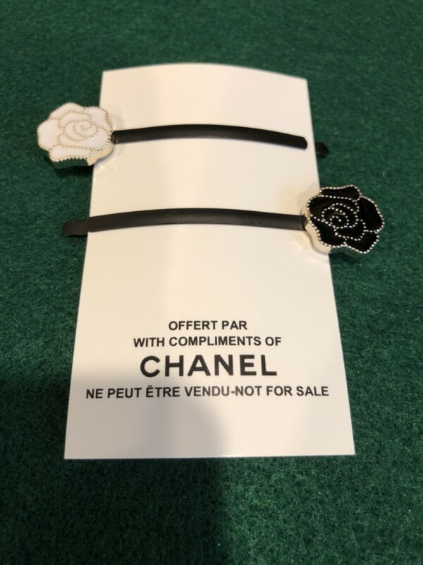 Chanel Vip Promo Camelia Hair Pins (2)