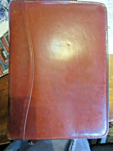 Vintage SCULLY Brown LEATHER BINDER/NOTE BOOK AND DAYTIMER Organizer