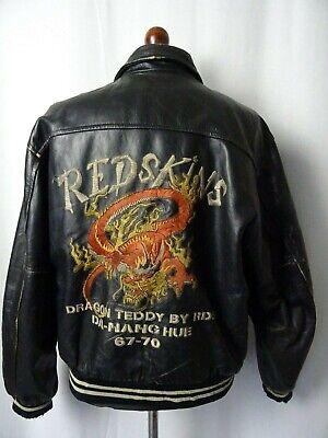 Men's Vintage Redskins Dragon Teddy Leather Jacket 46R (XL)