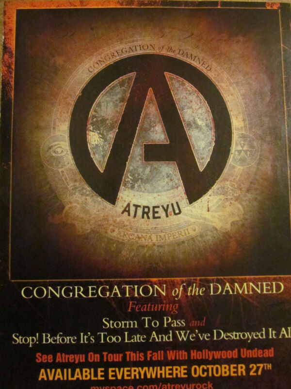 Atreyu, Congregation of the Damned, Full Page Promotional Ad