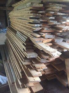 Milled pine rough lumber